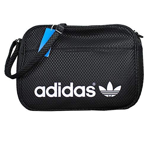 adidas Originals Airline Bag Messenger Tasche Umhängetasche Schwarz Woven AJ8131, Farbe:Schwarz, Größe:One Size