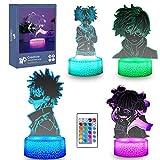 My Hero Academia Dabi Figure 3D Anime Lamp - 4 Pattern 16 Color Change Birthday Xmas Perfect Gifts for Boys Girls Kids Room Decor