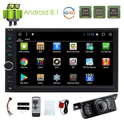 Car DVD CD-speler GPS navigatie met draadloze camera Bluetooth In Dash Video Car Stereo Radio ingebouwde microfoon