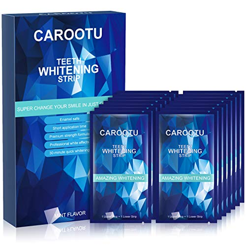 Teeth Whitening Strips - Non-Sensitive 25 Sets White Strips for Tooth Whitening, 30mins Fast-Result Teeth Whitener, Teeth Whitening Kit Removes Coffee Tea Smoking Wine Stains