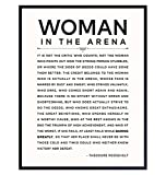 LARGE 11X14 - Man/Woman In the Arena - Teddy...
