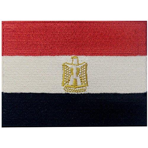 Bandera Egipto Árabe egipcio Parche Bordado Aplicación