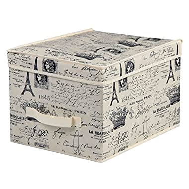 Home Basics Paris Collection Storage and Organization (Jumbo Box)