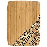 Bergner Natural Tabla de corte rectangular, Bambú