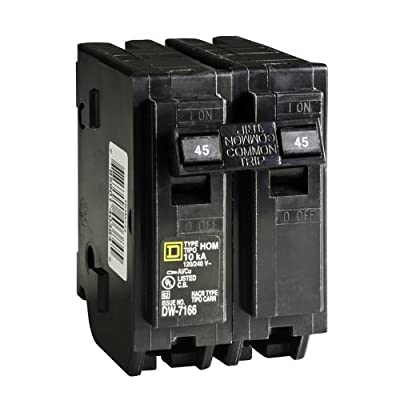 Square D by Schneider Electric HOM245CP Homeline 45-Amp Two-Pole Circuit Breaker