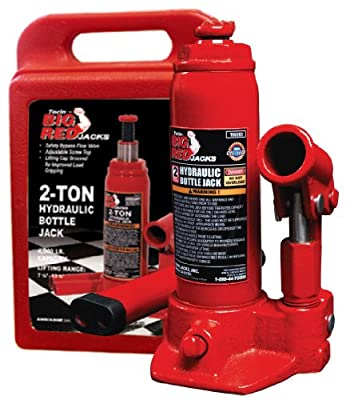 Torin Hydraulic Bottle Jack with Blow Carrying Case - 2 Ton