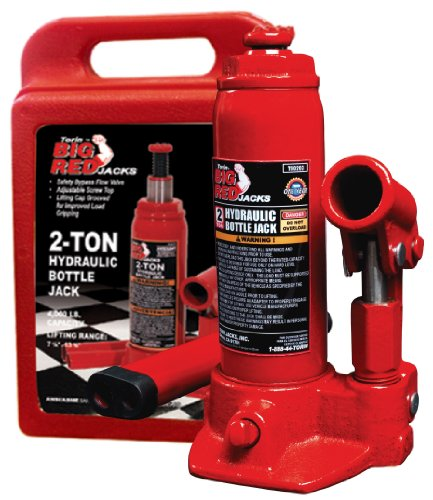 Torin Big Red Hydraulic Bottle Jack with Carrying Case, 2 Ton (4,000 lb) Capacity