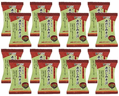 無添加 赤だしみそ汁 1食分(9.2g)×16個 ★ コンパクト ★ 国産立科麦みそ・有機八丁味噌の合わせ味噌汁。国産わかめ・なめこ入り。砂糖・動物性原料不使用。