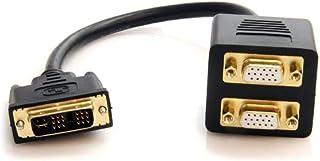 StarTech.com كابل DVI-D إلى 2x DVI-D DVI-D DVI-D - M/F 1 feet DVISPL1VV
