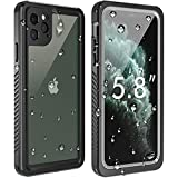 Temdan New Designed iPhone 11 Pro Waterproof Case, Built in Screen Protector Clear Sound Quality Full Sealed Cover Shockproof Dirtproof Outdoor Rugged Underwater Cases for iPhone 11 Pro 5.8 inch-2019