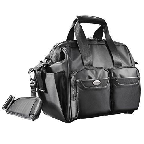 Mantona Nephrit SLR-cameratas (uitneembare camerafach, royale toegang van de camera, stofbescherming, voor SLR met aangebrachte lens, 2 andere objectieven) zwart