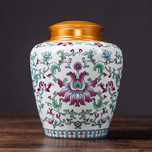 Ksnrang Keramik-Teedosen, emaillierte kandierte Obstdosen, allgemeine Aufbewahrungsdosen, Sammlung hochwertiger Geschenksets, Private Anpassung-Elegante White-Single-Dose