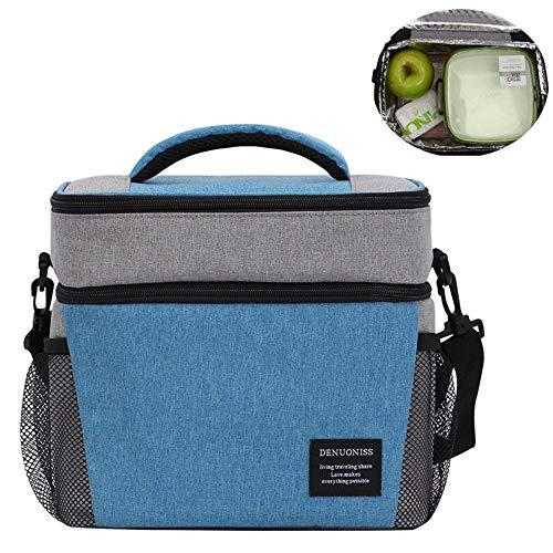 Nobrannd Draagbare Lunch Cooler Bag Picknick Rugzak Met Geïsoleerde Koelkast Inclusief Verplaatsbare Flessenrek Picknick Deken En Picknick Tafelgerei 24x15x24cm