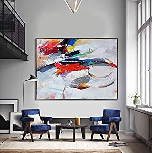 Multicolors Hand Painted Tableau on Canvas 40X60 cm , 2724782329828