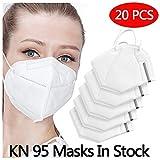 Safety KN95 FFP2/PM2.5, adatto per molte occasioni, adulti uomini e donne Protezione personale 20PCS