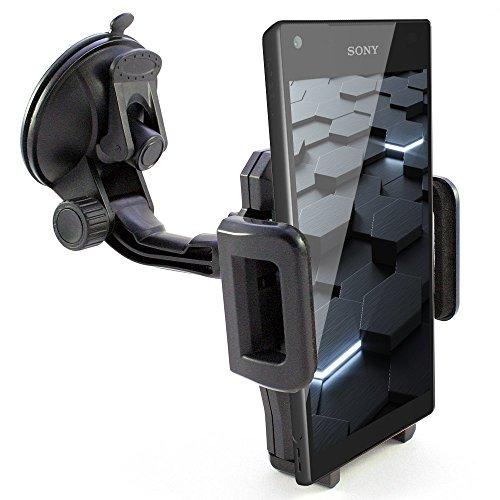 KFZ Handyhalterung Auto Saugnapf Scheibe Handy Halterung Halter z.B. kompatibel mit Sony Xperia 1 5 10(PLUS)/E5/L3 L2 L1/X Compact Performance/XA2 XA1 XA (PLUS&Ultra)/XZ3 XZ2 XZ(Compact&Premium)/XZs