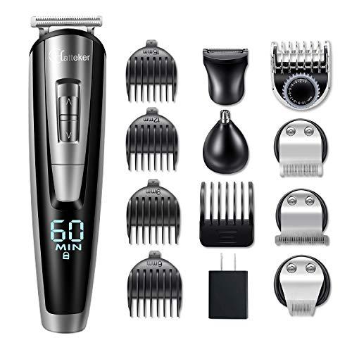 Hatteker Mens Beard Trimmer Kit Cordless Mustache Trimmer Hair Clippers Trimmers Groomer Kit Nose Hair Trimmer Waterproof 5 In 1