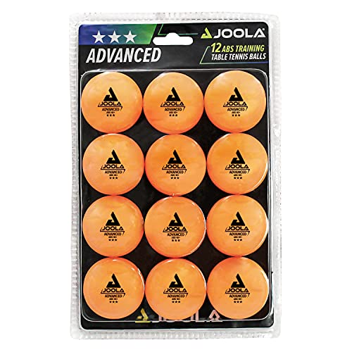 JOOLA Training 3 Star Table Tennis Balls 12, 60, or 120 Pack - 40mm Regulation Bulk Ping Pong Balls for Competition and Recreational Play - Fun as a Cat Toy - Indoor and Outdoor Compatible, orange