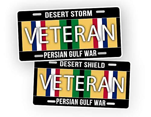 SignsAndTagsOnline Operation Desert Storm and Shield Veteran License Plate Gulf War Veteran Auto Tag