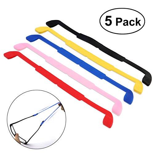 NUOLUX NUOLUX Brillenband,Eyewear Strap Brillenband,Anti-Rutsch elastische Silikon Kopfband Gurt 5 Farben