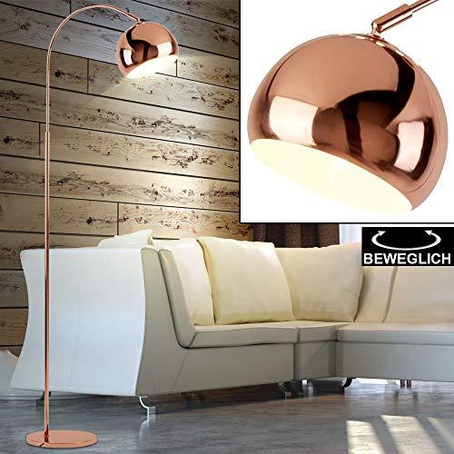 Retro Bogen Steh Leuchte kupfer Wohn Zimmer Stand Leuchte Spot schwenkbar