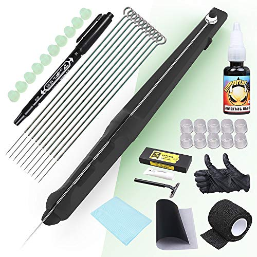 Dragonhawk Hand Poke and Stick Tattoo Kit, DIY Tattoo Supply Ink Needles Set for Tattoo Artists DD-SZ