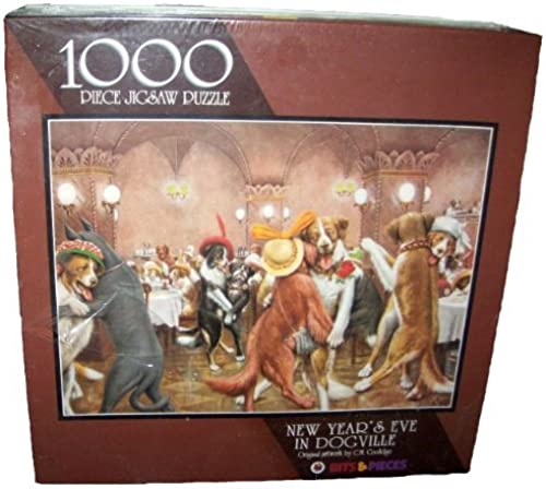 Disfruta de un 50% de descuento. New Year's Eve in Dogville Dogville Dogville 1000 Piece Jigsaw Puzzle by C.M. Coolidge by Dogville  exclusivo
