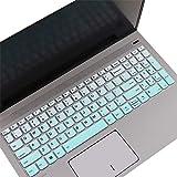 Keyboard Cover Skin for 2020 Latest Lenovo Ideapad 5 15IIL05 15.6' /Ideapad Flex 5 15IIL05 /Ideapad Slim 7 15 15.6' |New Lenovo Flex 5 15 15.6 (with Numeric Keypad) US Keyboard Cover Skin -MintGreen