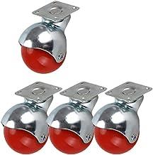 2-inch kleur bolvormige nylon zwenkwielen Wiel gegalvaniseerde beugel zwenkwielen