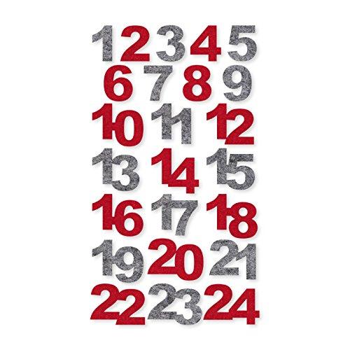 Halbach Seidenbänder GmbH Filz-Zahlen Adventskalender 1-24 24 Stück