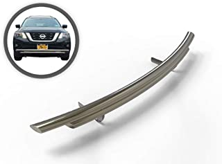 VANGUARD VGFDL-1037-1161SS Multi-fit Bumper Guard Stainless Steel Front A Bar with Dual Layer