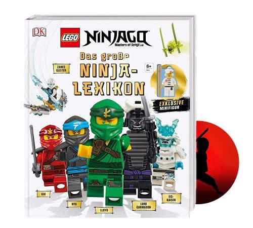Buchspielbox Lego NINJAGO Das große Ninja-Lexikon: Mit exklusiver Minifigur + Ninja Sticker, Nachschlagewerk ab 6 Jahren