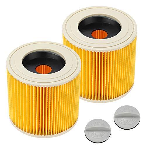 Sunnila 2 Stück WD3 Patronenfilter Kartuschenfilter Kompatibel mit Karcher WD3 Premium WD2 WD3 WD3 P MV3 Staubsauger, Ersetzen Sie 6.414-552.0, 6.414-772.0, 6.414-547.0