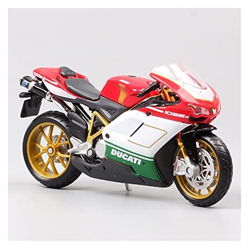 El Maquetas Coche Motocross Fantastico 1/18 para Ducati 1098s Simulación Deportiva Aleación Modelo De Motocicleta Adornos Colección Niño Regalo Juguete Coche Regalos Juegos Mas Vendidos