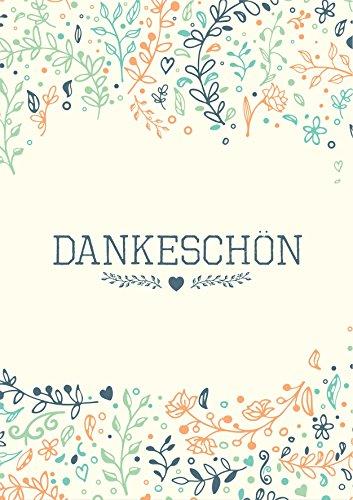 Dankeskarten - 50 Klappkarten mit 50 Umschlägen : Dankeschon, Danksagung nach Hochzeit, Geburtstag, Konfirmation u.v.m. :