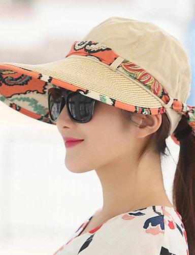 ZYT Femme Décontracté Paillette Chapeau de Soleil,Mosaïque Eté, Khaki, One-Size