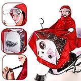 MXBIN wasserdichte Motorrad-Reiten Raincoat Abdeckung One-piDouble Hutkrempe Werkzeugzubehör (Color...
