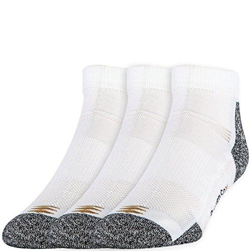 PowerSox mensP1113-pack Powerlites Low Cut Socks With Moisture Control Socks -  white -  Shoe Size: 4-8.5
