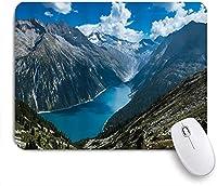 KAPANOU マウスパッド、キャニオンゴージマウンテングリーンツリーブルーリバー風景風景 おしゃれ 耐久性が良い 滑り止めゴム底 ゲーミングなど適用 マウス 用ノートブックコンピュータマウスマット