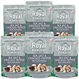 Royal Hawaiian Orchards Sea Salt and Cracked Pepper Macadamias Nuts, 4 Ounce - 6 per case.