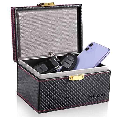 TICONN Faraday Box, Car Key Fob Protector, Carbon Fiber Signal Blocker...