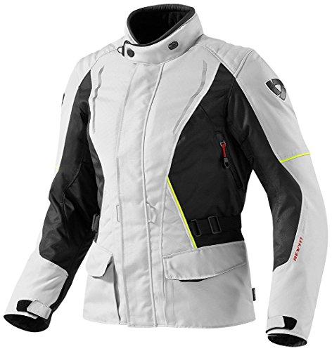 Revit Damen Motorradjacke Monroe, Farbe Silber-schwarz, Größe 38