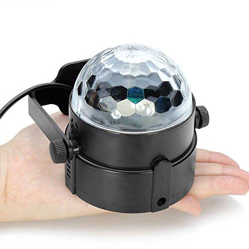 Docooler 3 W RGB LED kristallen magie roterende bal effect LED podium voor KTV Xmas Party Bruiloft Kaart Club Pub Disco DJ verlicht