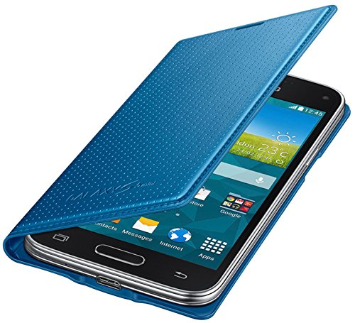 Samsung Flip Wallet Hülle Case Cover für Samsung Galaxy S5 Mini Punching Pattern - Electric Blau