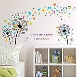 Dandelion Butterfly Wall Stip Sitio Sofá Sofá Fondo Fondo Pared Decorativo Muro Pintura Muro Beautify Pegatina Papel Craft Impermeable Mural