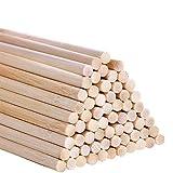 Varillas de Madera,50 Piezas de DIY Craft Palitos de Madera,Varillas de Madera de Bambú para la Producción Manual de Bricolaje, Decoración del Hogar, etc(5 x 30mm).
