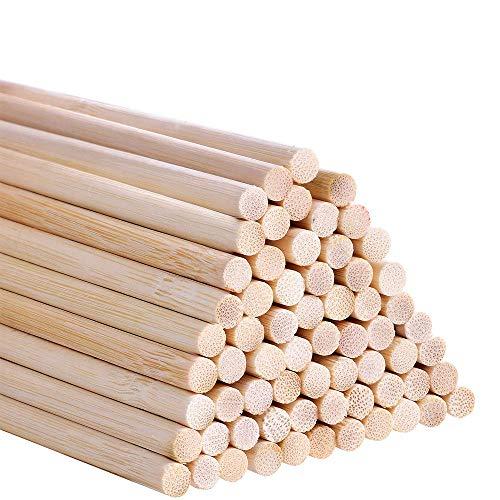 Integrity.1 Holz Handwerk Stöcke, 50Pcs Holzstäbchen, Rundhölzer zum Basteln, Bastelstäbchen aus Holz für Manuelle DIY-Produktion, Heimdekoration, Pädagogisches Kinderspielzeug Usw(5 x 30mm).