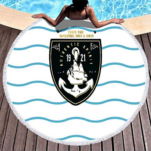 JEFFERS Ronde handdoek zeemansbadge logo 1 Beach Towel tapijt tapijt matten