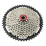 JFOYH 10 Speed Cassette Mountain Bicycle Cassette11-50Tfor MTB, Compatible with Shimano/SRAM/FSA, Except Microspline & XD