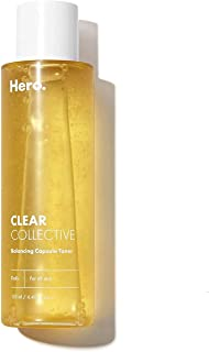 تونر پوست Hero Balancing Capsule Skin برای صورت   انواع پوست   تونر صورت سرم تصفیه کننده و مرطوب کننده منافذ   4.39 اونس